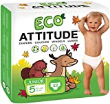 Natural Baby Diapers Size 5: Biodegradable, Hypoallergenic Diapers | Leak-Free, Moisture-Control, Fast Absorption | 100% Chlorine-Free Diapers, Free of Fragrances, Dyes, Print (22 count)