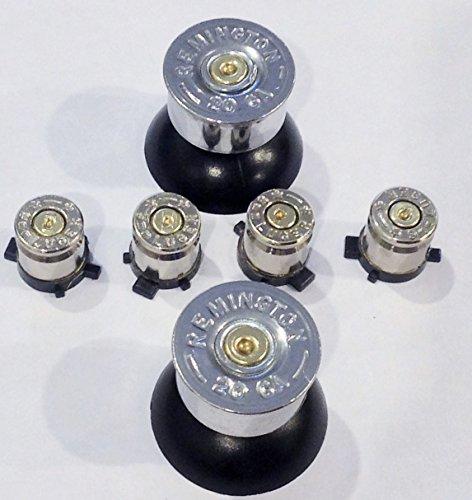 Remington 9mm Luger (Sony Playstation 3 Wireless Controller Custom 9mm Silver+Brass Bullet Buttons+20g Silver+Brass Shotgun Shells Analog Thumbsticks Self Install ps3 Mod Kit)