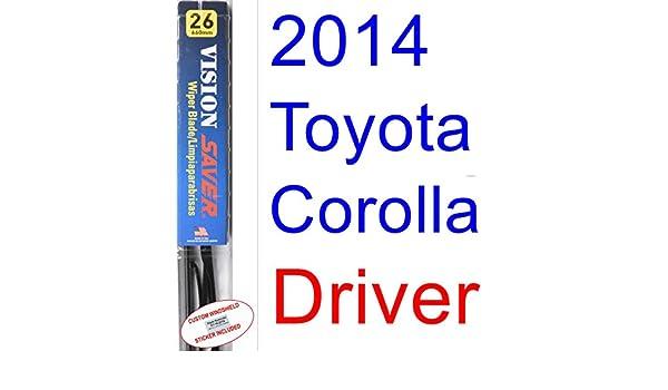 Amazon.com: 2014 Toyota Corolla Eco Plus Wiper Blade (Driver) (Saver Automotive Products-Vision Saver): Automotive