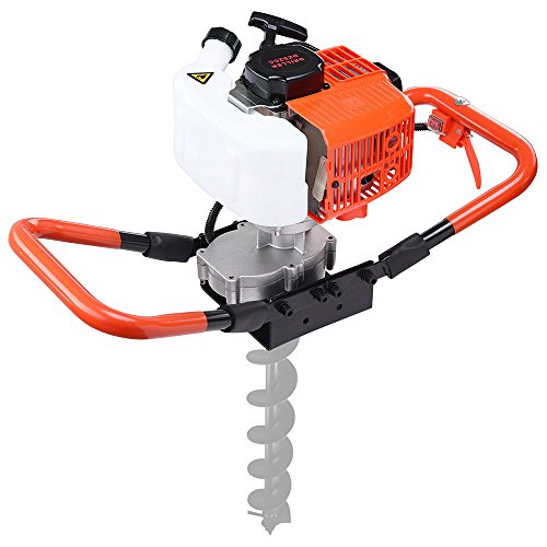 52CC 2.2HP Earth Auger Powerhead 1 or 2 Men Gas Powered Post Hole Digger Machine 1.7 KW/6500 RPM Fence Installation Tree Bulb Planting Outdoor Needs US Delivery