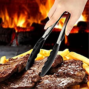 2 pcs/set Silicone Bread Clamp Tongs Multi-functional Non-Stick Food Clip BBQ Cooking Tool Kitchen Accessories For Barbecue (9inch&12inch)
