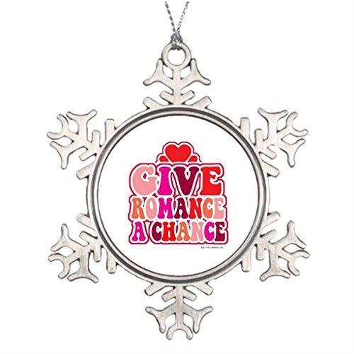 - Metal Ornaments Heartbreak Valentime Tree Branch Decoration Christmas Snowflake Ornaments Balls