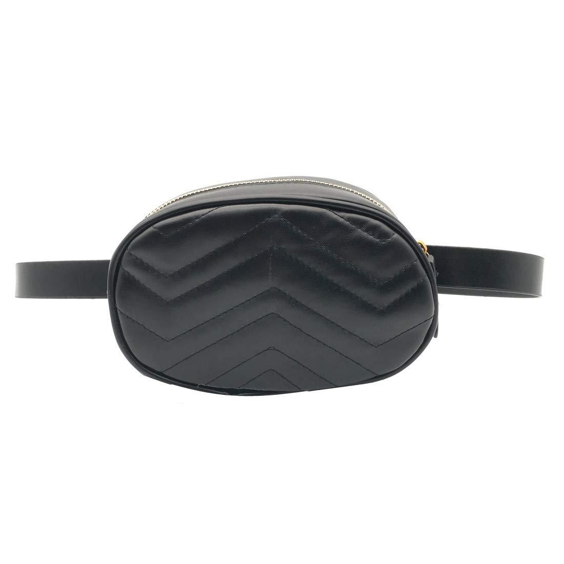 Fashion Belt Bag Waist Bag Round Women PU Leather Zipped Handbag 2018 Summer Hight Quality