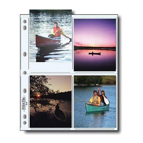 Print File 45-8P Archival Storage Page for 8 4''x5'' Prints Pack of 100 - 060-0622 by Print File