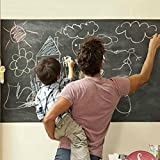 "KFSO Self Adhesive Chalkboard Contact Paper Black 18"" X 79"" Chalk Paper Dry Erase Wallpaper Decal Chalkboard Sticker Witch White Chalk Marker for Home Office School"