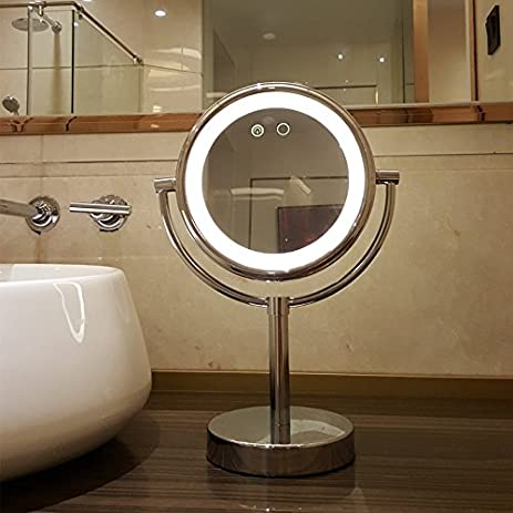 Amazon.com: Simple LED mirrors lighted vanity mirror double sided ...