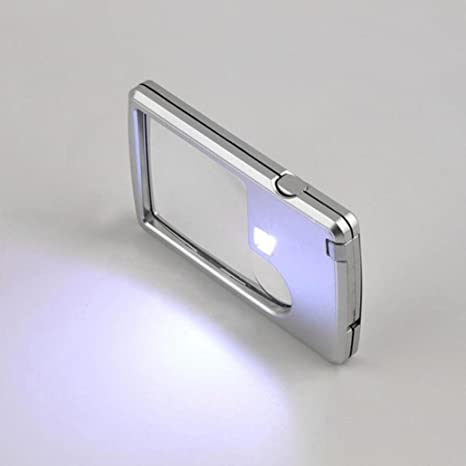 Amazon.com: oldeagle LED lupa con luz + funda de piel lupa ...
