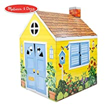 "Melissa & Doug Country Cottage Indoor Playhouse (Role-Play Center, Sturdy Construction, Vibrant Exterior Artwork, 54"" H x 39"" W x 33.4"" L)"