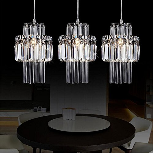Industrial Led Single Head Pendant Lamp Crystal Chandeliers and Pandants E14 Light Fixtures for Dining Bedroom Hanglamp Suspension Luminaire
