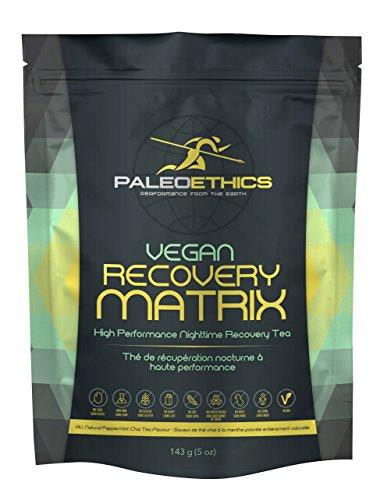 PALEOETHICS Vegan Recovery Sports Nutrition Powder, Vanilla Peppermint, 143 Gram