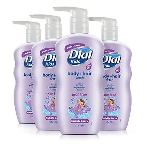 (Dial Kids Body + Hair Wash, Bubble Berry, 24 Ounce (Pack of)
