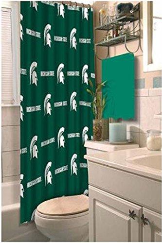 Michigan State Spartans Shower Curtain (NCAA Michigan State Spartans Shower Curtain)