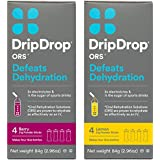 DripDrop ORS Electrolyte Hydration Powder Sticks, Lemon/Berry Variety Pack, Individual 21g Sticks, 8 Count