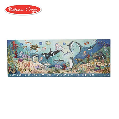 Melissa & Doug Search & Find Under the Sea Floor Puzzle (Preschool, Sturdy Cardboard Construction, Easy to Clean, 48 Pieces, Over 4 Feet Long) -