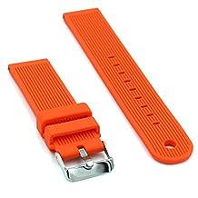 Woodln Silicone Wristband Bracelet Replacement Straps Smart Watch Band Strap for Motorola Moto 360 2nd Gen (Orange)