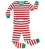 Baby : Elowel Striped 2 Piece Pajama Set Red & White 12-18 Months