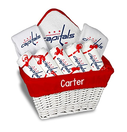 Designs by Chad and Jake Baby Personalized Washington Capitals Large Gift Basket One Size White