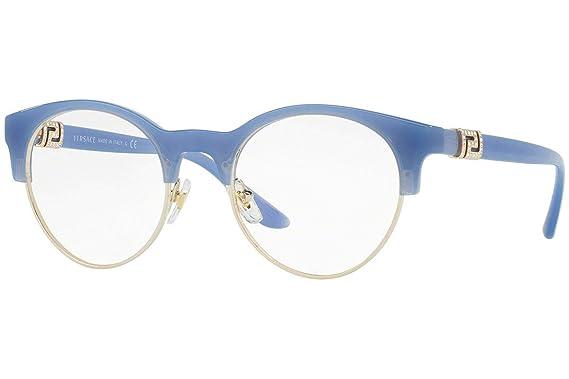 8e87dda0710 Amazon.com  Versace VE3233B Eyeglasses 49-20-140 Opal Azure Gold w ...