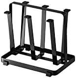 Metal Steady and Durable Dish Drainer Rack and Cup Stand, Black Color