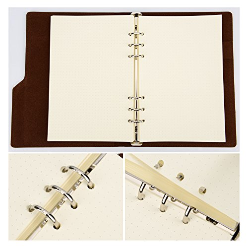 Hestya A5 6-Ring Binder Planner Refill Paper for Journals Notebooks Diaries Inserts, 8.35 by 5.59 Inches (200) by Hestya (Image #5)