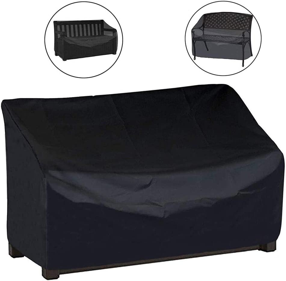 wangza Bench Covers Waterproof 2 Seater 3 Seater 4 Seater for Garden Outdoor Furniture Bench Cover Dustproof 190T Oxford Cloth UV Protection