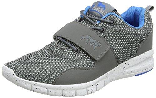 Lonsdale Novas, Zapatillas de Running Hombre Gris (Grey/Blue)