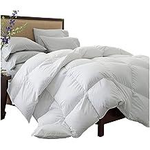 Superior Solid White Down Alternative Comforter, Duvet Insert, Medium Weight for All Season, Fluffy, Warm, Soft & Hypoallergenic - Full/Queen Bed