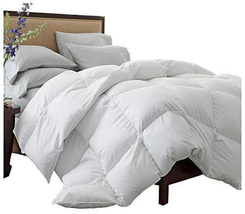 Superior Solid White Down Alternative Comforter, Duvet Insert, Medium Weight for All Season, Fluffy, Warm, Soft & Hypoallergenic - Full/Queen Bed by Superior