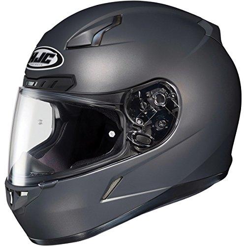 HJC Metallic Mens CL-17 Road Race Motorcycle Helmet - Matte Anthracite/Medium
