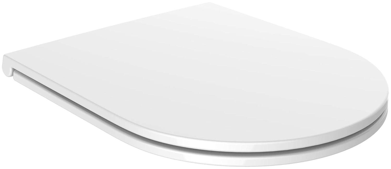 Miraculous Amazon Com Euroshowers White Slimline D Shape One Seat Soft Inzonedesignstudio Interior Chair Design Inzonedesignstudiocom