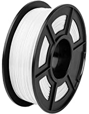Comgrow Creality PLA 3D Printer Filament, Dimensional Accuracy +/- 0.02 mm,1.75mm 1 kg Spool, White for Ender3 CR-10