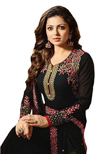 (Ready Made Fashionable Designer Straight Salwar Kameez LT Nitya 2201-2208 (Black, XL-44))