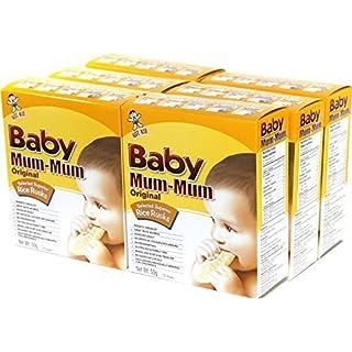Hot-Kid Baby Mum-Mum Original Flavor Rice Rusks, 24-pieces-1.76oz(Pack of 6)