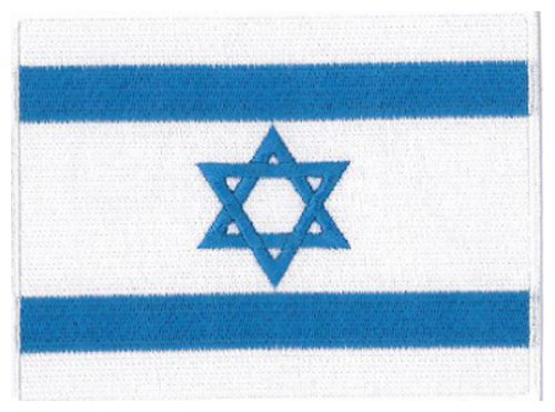 israel flag embroidered patch