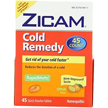 Zicam Cold Remedy Dissolving Tablets Citrus Flavors 45-Count
