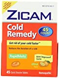 Zicam Cold Remedy Dissolving Tablets Citrus Flavors 45-Count (Pack of 3)