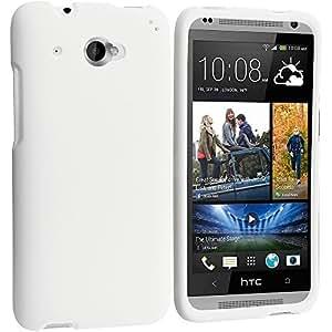 Accessory Planet(TM) White Hard Snap-On Matte Rubberized Case Cover Accessory for HTC Desire 601 Zara