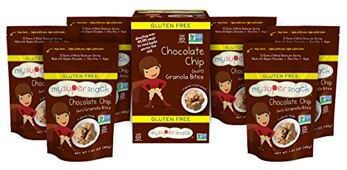 Gourmet Food : MySuperSnack Soft Granola Bites, Chocolate Chip Soft, 6 - 1.41 Ounce , Box