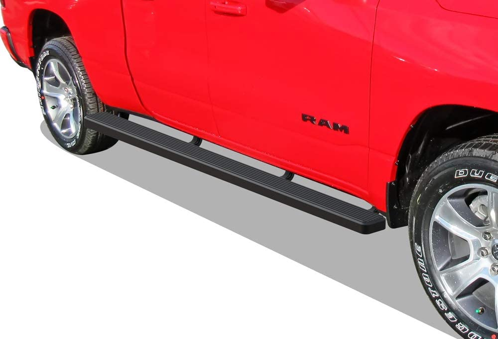 Compatible with 2019-2020 Dodge Ram 1500 Quad Cab Pickup 4-Door for New Body Style Only APS iBoard Running Boards Nerf Bars Side Steps Will Not Fit 2018 Model Black Powder Coated 4 inches