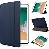 iHarbort iPad 9.7 Case 2017/2018 - Multi-Angles Smart Cover Holder Stand PU Leather Case with Sleep/Wake up Function, Dark Blue