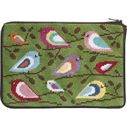 Amazon.com: Stitch & cierre de cremallera Needlepoint Purse ...