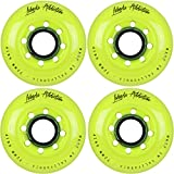 Labeda Addiction Inline Roller Hockey Skate Wheels Set of 4 (Yellow, 72mm)
