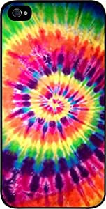 Bright Tie-Dye- Case for the Apple Iphone 5-5s Universal-Hard Black Plastic