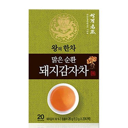 Korean Organic Ssanggye Tea Premium [ Jerusalem Artichoke Tea ] with Tangerine Peel Hydrangea Leaves Fermented Green Tea