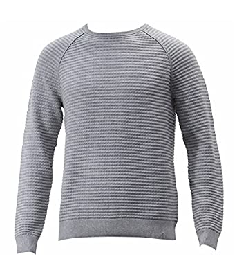 Calvin Klein Mens Textured Long Sleeves Crewneck Sweater