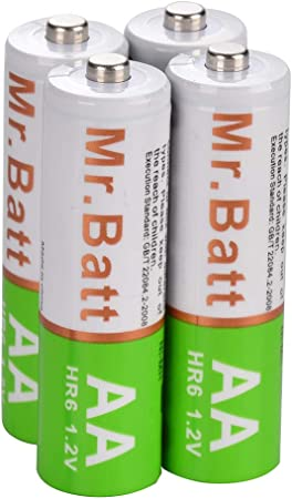 "4 Pack /"" Mr.Batt Rechargeable AA AAA Charger 1000mAh High Capacity Batteries"