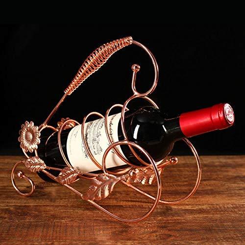 Dorato Tricycle Abracing Rastrelliera per Vino Stand Vintage Triciclo Modello Ornamenti Decorazione per la Casa Soggiorno