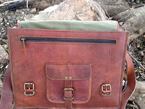 Komal s Passion Leather 14 Inch Leather Laptop Bag Satchel Briefcase Shoulder College Bag