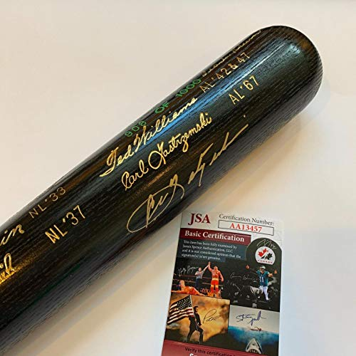 - Carl Yastrzemski & Frank Robinson Signed Triple Crown Commemorative Bat JSA COA