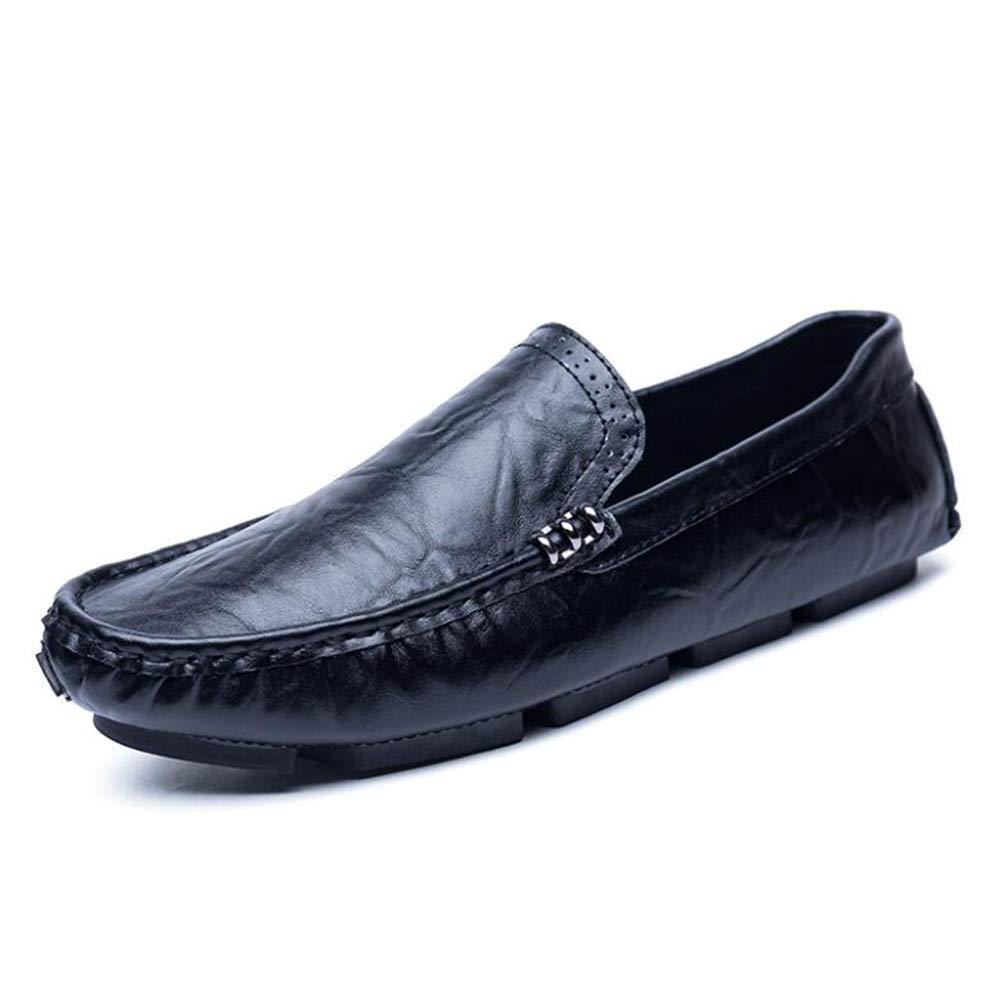 Hy Herrenschuhe, Frühlingslicht-Tropfen-Driving schuhe, Loafers & Slip-Ons Lazy Schuhe, Wanderschuhe,schwarz,38
